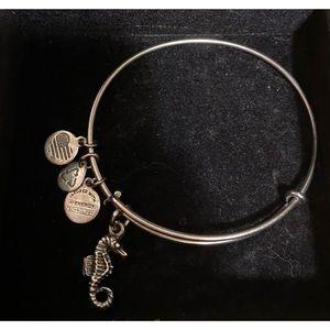 ALEX AND ANI + seahorse + silver + bracelet